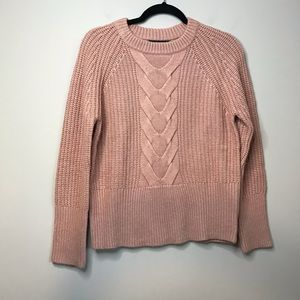 Brass The Cable Knit Sweater in Pink Clay